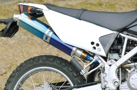 D-TRACKER125/KLX125用 NewNASSERT-R Slip-onマフラー