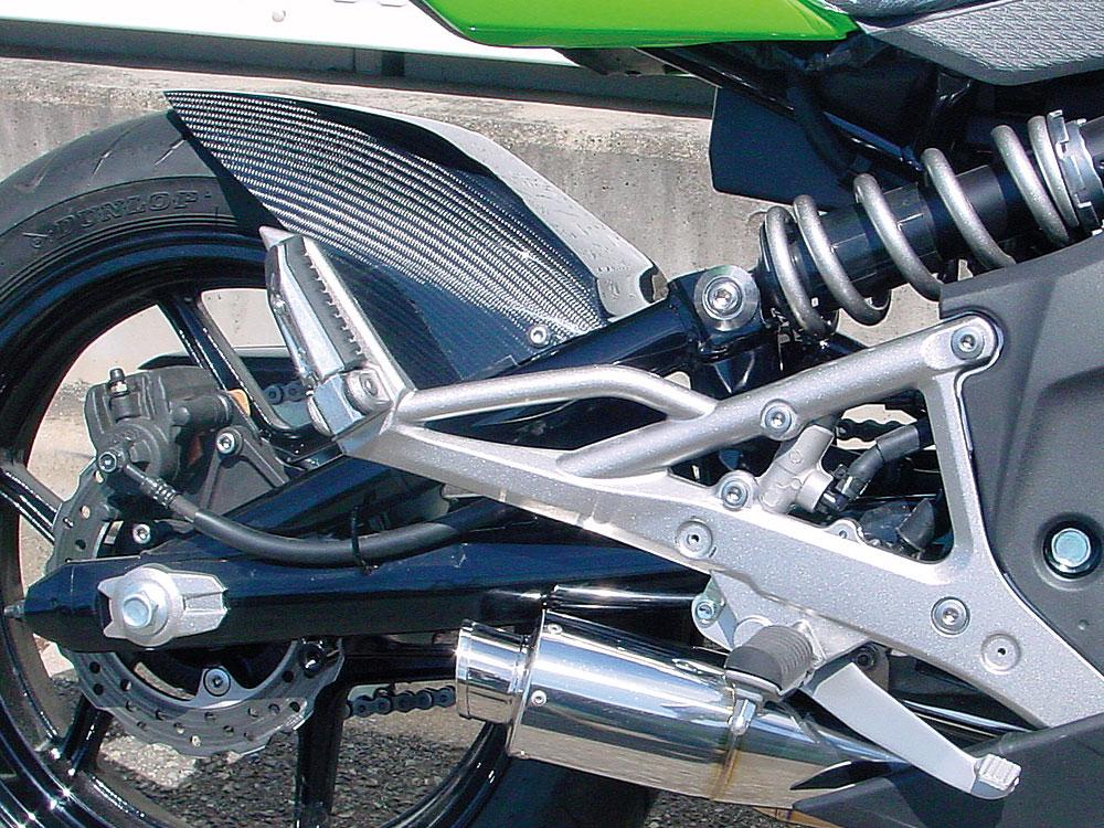WR'S Ninja400R用綾織りカーボンリヤフェンダー