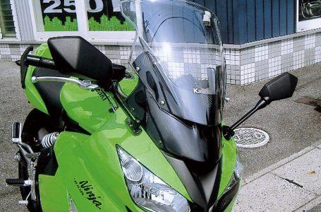 カワサキショップ・ブレジャー Ninja400R用 バイザーリフトプレート