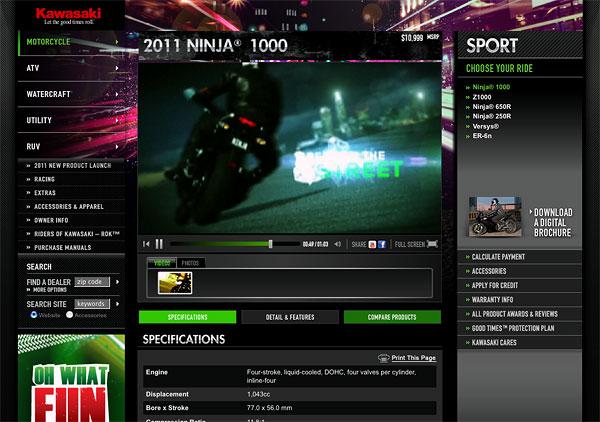 2011 Ninja® 1000 Sport - Kawasaki.com