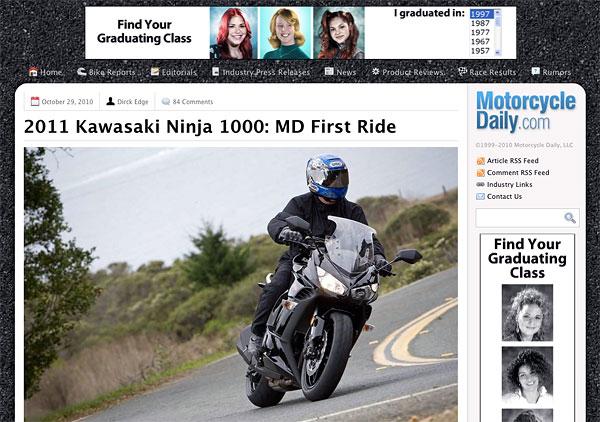 2011 Kawasaki Ninja 1000: MD First Ride