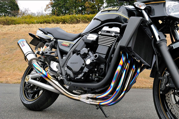 MotoGear ZRXシリーズ用手曲げフルチタンエキゾーストシステム