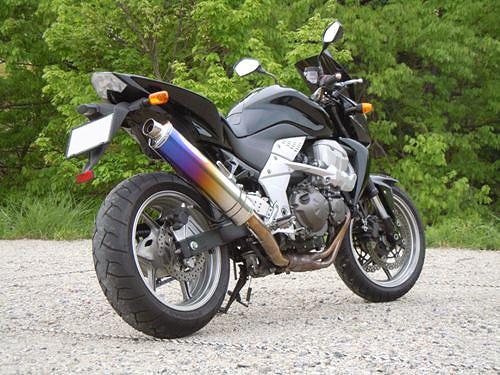 MHアサノ Z750用 スリップオンマフラー チタンブルーグラデーション