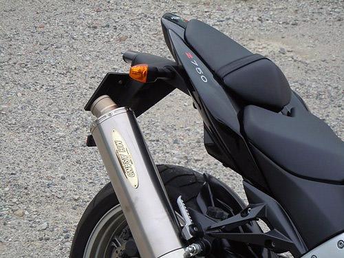 MHアサノ Z750用 スリップオンマフラー スタンダードチタン