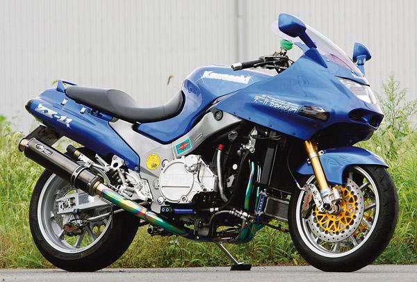 ZZR1100 DLCチタンマフラー