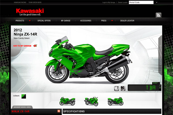 Ninja ZX-14R - Supersport - Model 2012 - Canadian Kawasaki Motors Inc.