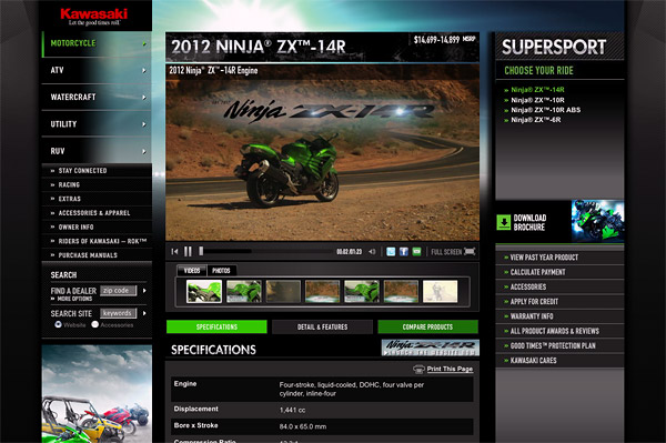 2012 Ninja® ZX™-14R Supersport - Kawasaki.com