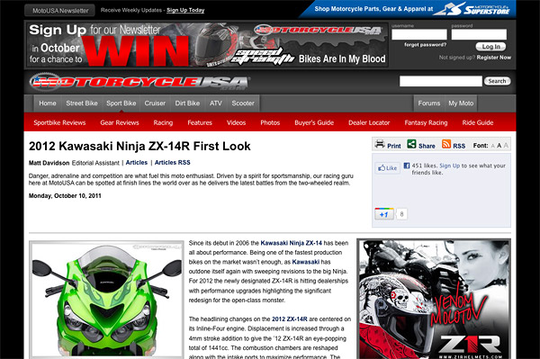 Motorcycle News and Motorcycles - Motorcycle USA
