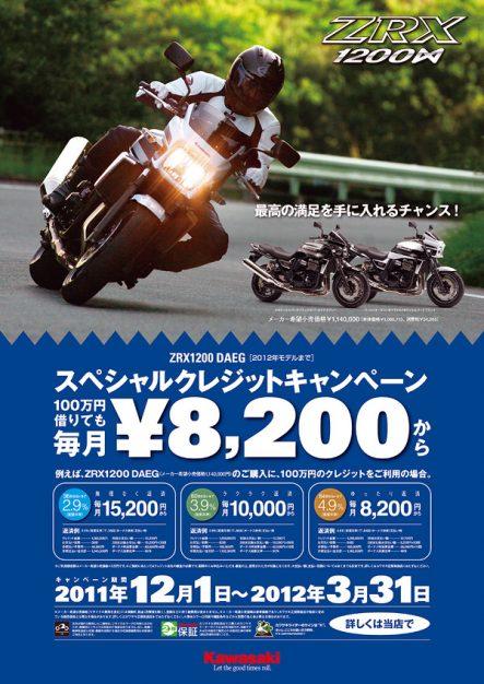 ZRX1200DAEG スペシャルクレジットキャンペーン
