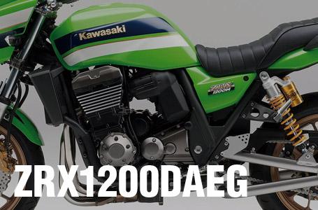 [ZRX1200DAEG]2012年モデルにカワサキ正規取扱店特別仕様車が登場。ファン待望のライムグリーン+オーリンズ