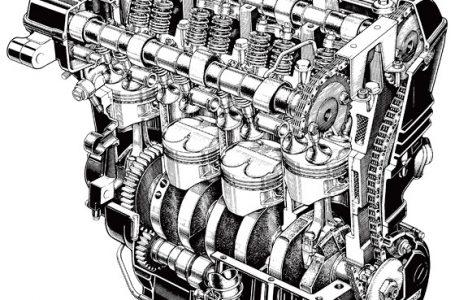 GPZ900Rエンジン