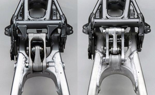 2003年モデルおよび2004年モデル KX250サスペンション