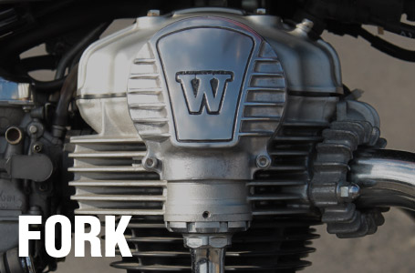 フォークからW800/650/400用ベベルギアカバーが発売