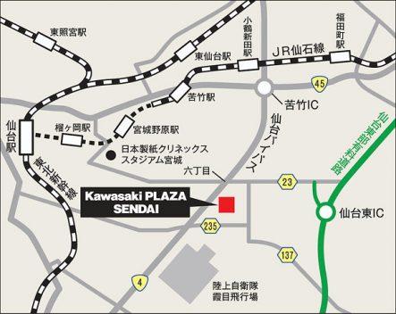 Kawasaki Plaza 仙台 地図