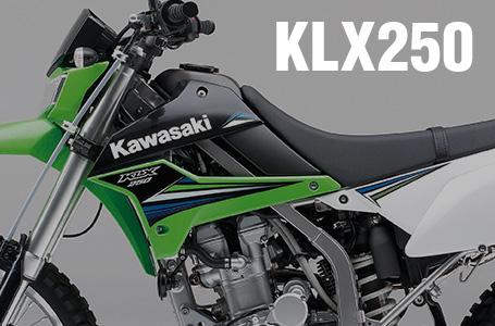 [KLX250]2014年モデルはKXイメージのライムグリーンとエボニーの2色