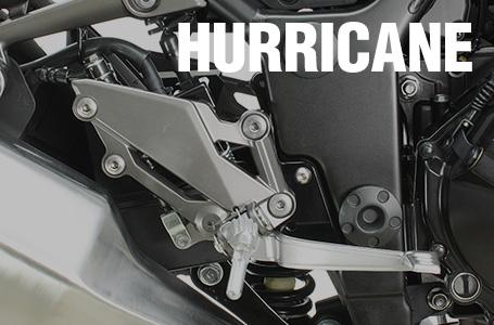 ハリケーンからニンジャ250/R&Z250用ステップオフセットプレートが登場