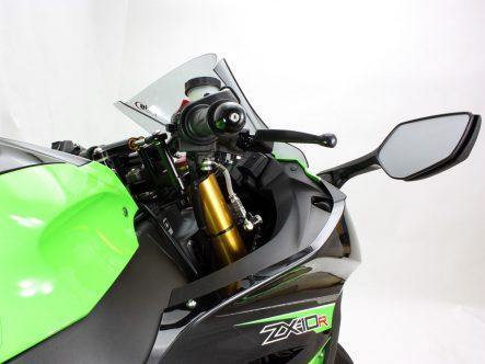 HURRICANE Ninja ZX-10R(2011〜2013) ABS用バーハンドルキット ブレーキホースジョイント