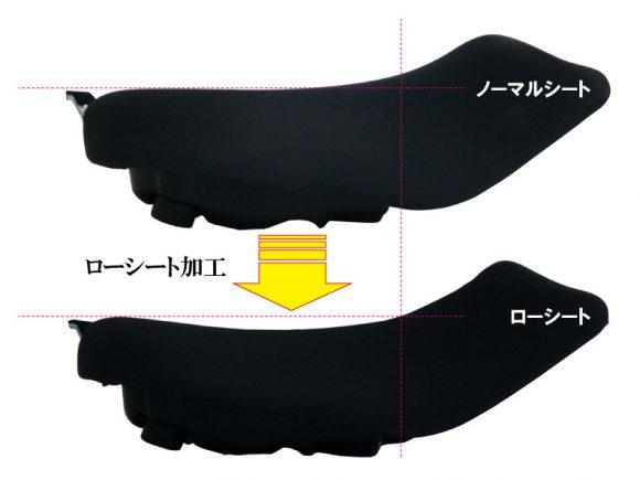 ケイズスタイル Ninja 650用ローシート(-20mm+低反発素材)