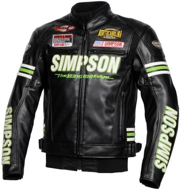 シンプソン PU Leather Jacket SJ-7133