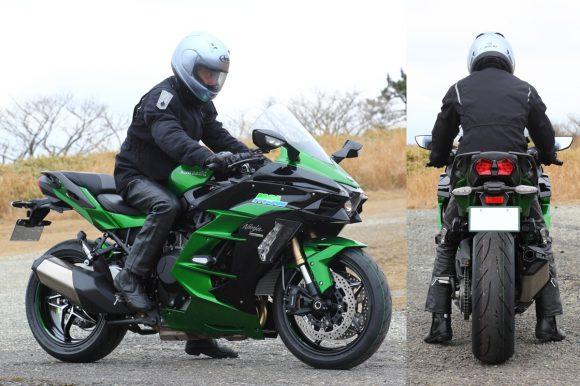Ninja H2 SX SE ライディングポジション