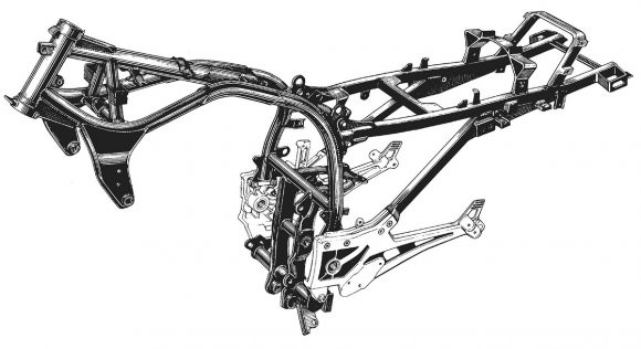 GPZ900Rのフレーム
