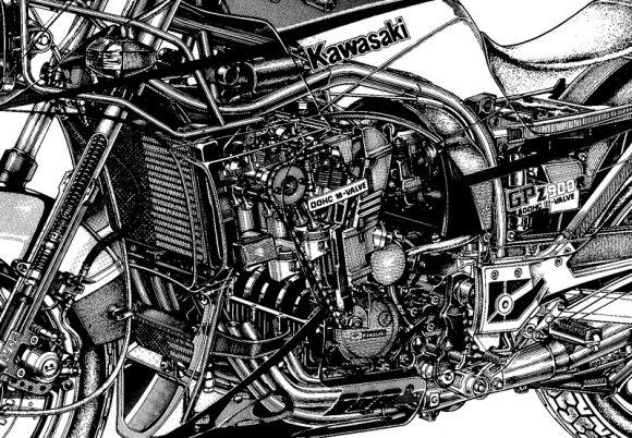 GPZ750/900Rのフレーム