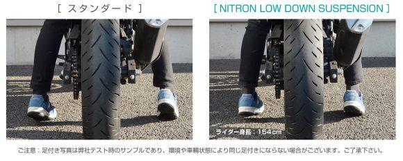 ナイトロン Ninja 400 対スタンダード比足付き比較