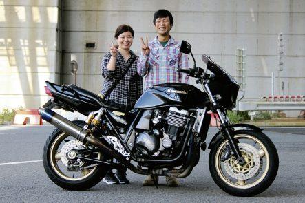 北九州から参加の黒瀬さん夫婦と、ZRX1100-Ⅱ