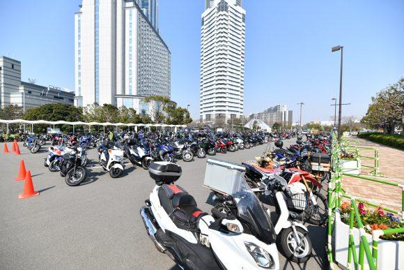 大阪モーターサイクルショー2019 駐輪場