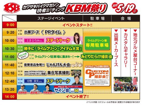 KBM祭り2019 スケジュール