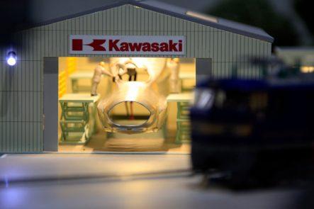 カワサキワールドの鉄道コーナー