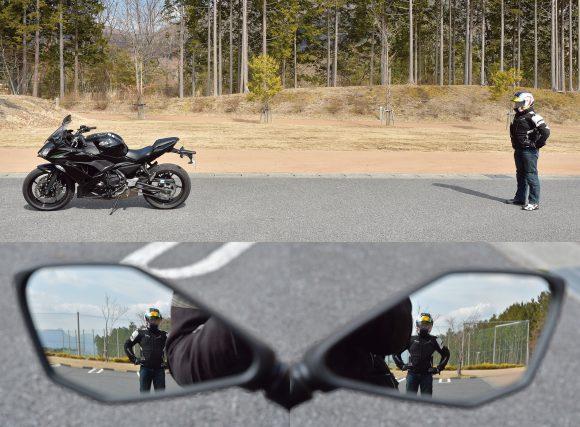 2018年モデル Ninja 650(EX650KJFA) ミラー後方視認性