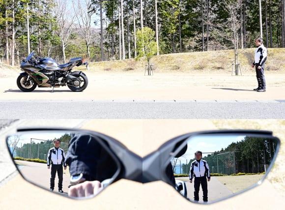 2019年モデル Ninja H2 SX SE+(ZX1002D) ミラー後方視認性