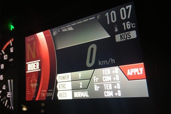 2019年モデル VERSYS 1000 SE(KLZ1000D) フルカラーTFT液晶メーター