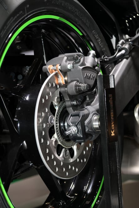 東京モーターショー2019 Ninja ZX-25R リヤブレーキ