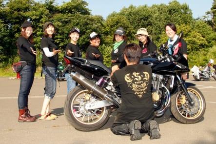 第5回 東北COLORS MEETING in 北秋田 CSDの女性ライダーのみなさん
