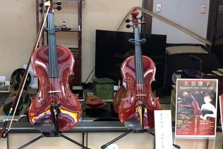 輪島漆塗で仕上げたヴァイオリン