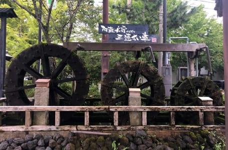 阿蘇神社の近くにある水車