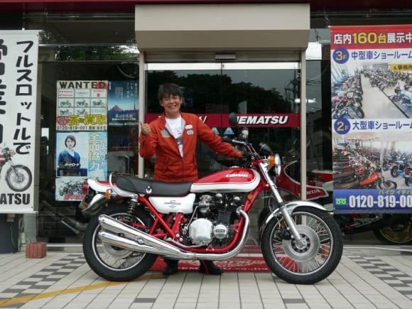 Z750FOURとKAZU中西(筆者)