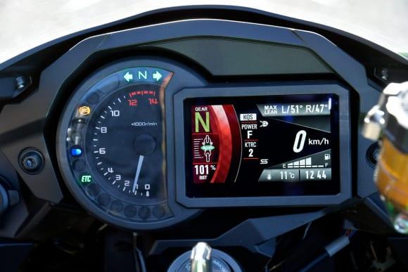 2018年モデル Ninja H2 SX SE(ZX1002BJF) メーター視認性
