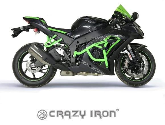 【CrazyIron】エンジンガード PRO CAGE / スライダー KAWASAKI Ninja ZX-10R 2011-