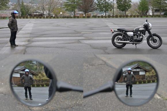 W800 STREET ミラー後方視認性
