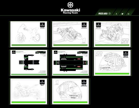 Kawasaki Racing Team WorldSBK Webサイト