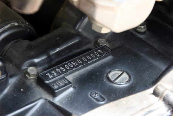 ビート 1985年鈴鹿8耐参戦車両/GPZ750R エンジンの刻印