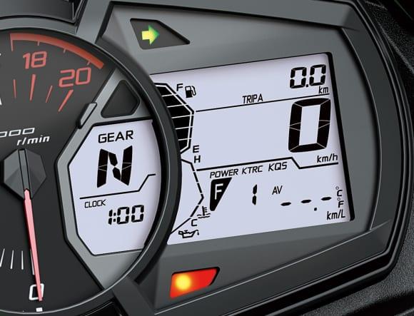 Ninja ZX-25R メーター内液晶ディスプレイ