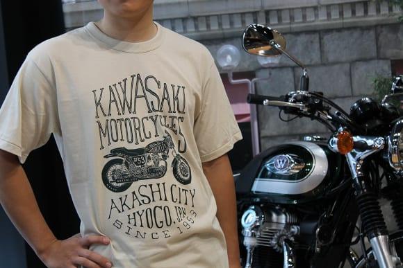 カワサキ デザインTシャツ(W) ストーン