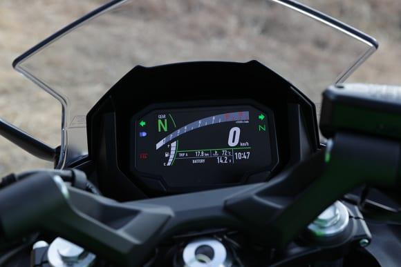 2020年モデル Ninja 650 メーターパネル(背景黒)