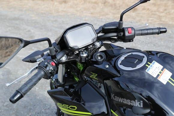 2020年モデル Z650 ハンドル・メーター