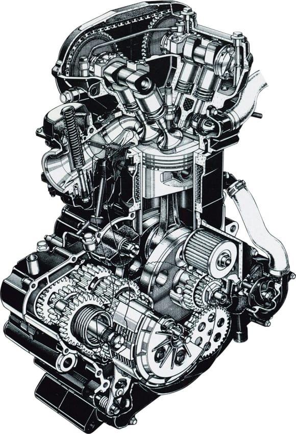 1984年モデル KL600R エンジン
