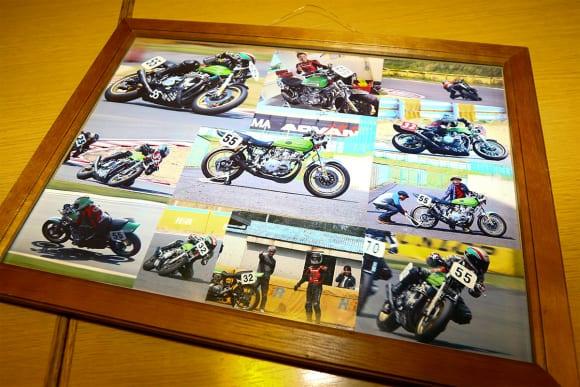 レースのポスターや増留さんがレースに参戦したときの写真